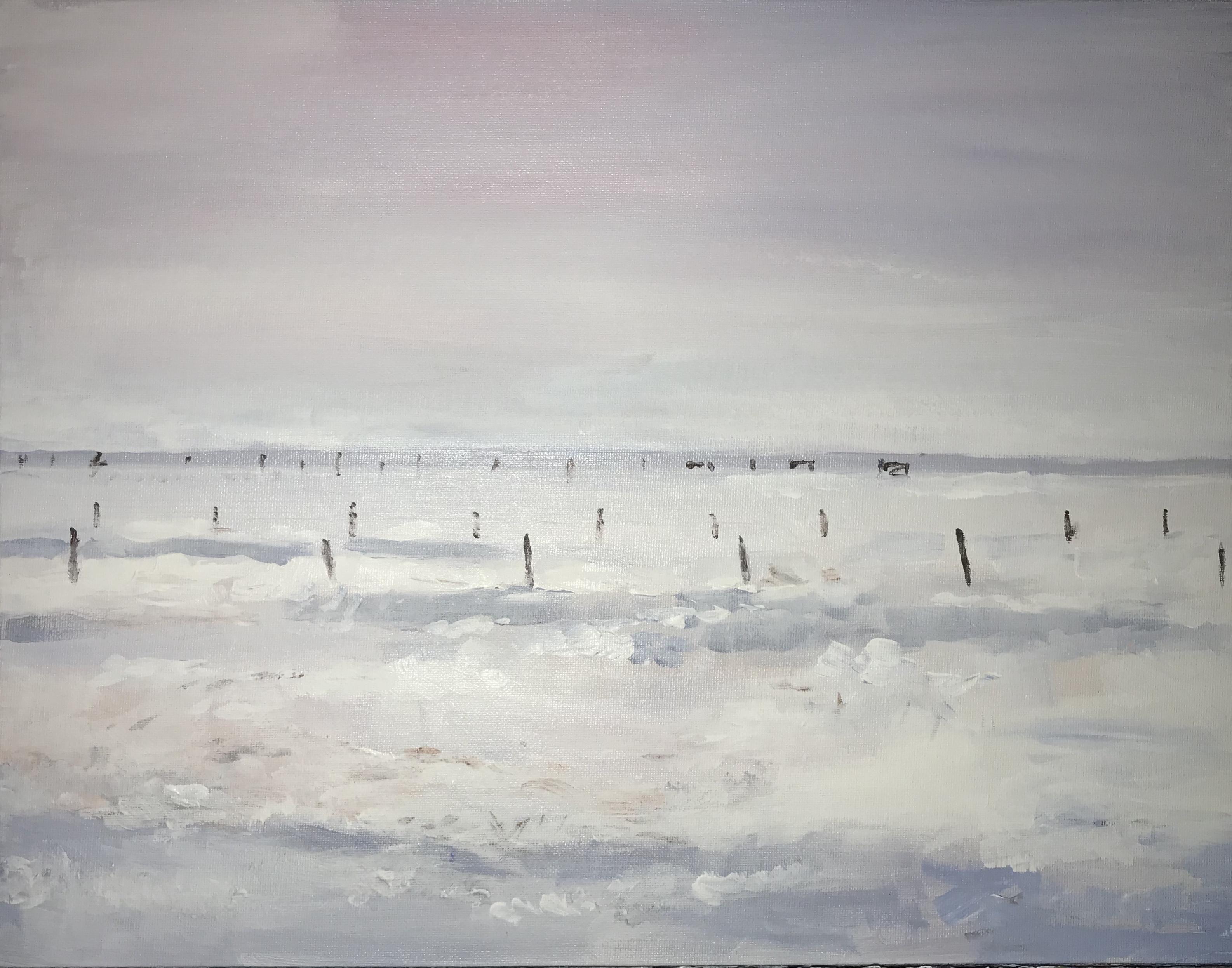 Fields of snow, Brent Jones, painting, Monet, denver, denver Art, Monet denver, impressionistic, impressionist Art, Colorado Art, Art, acrylic art