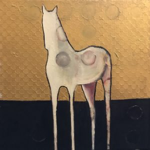 Brent Jones Art, acrylic, gold, horse, horse painting, abstract horse, contemporary horse, contemporary art