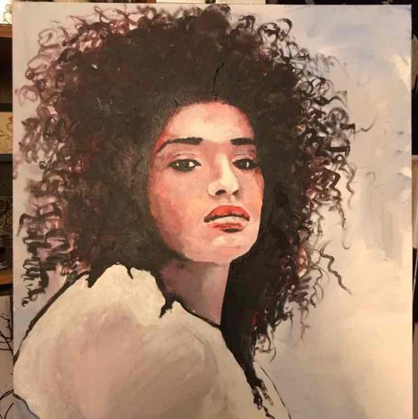brent jones art, brent jones, denver art, acrylic art, contemporary art, local art, brent jones denver, Indya Moore, Indya Moore Painting, Indya Moore Art